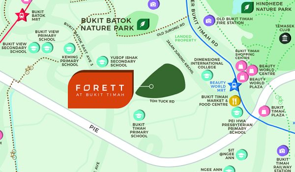 Forett-at-Bukit-Timah-Location-Map